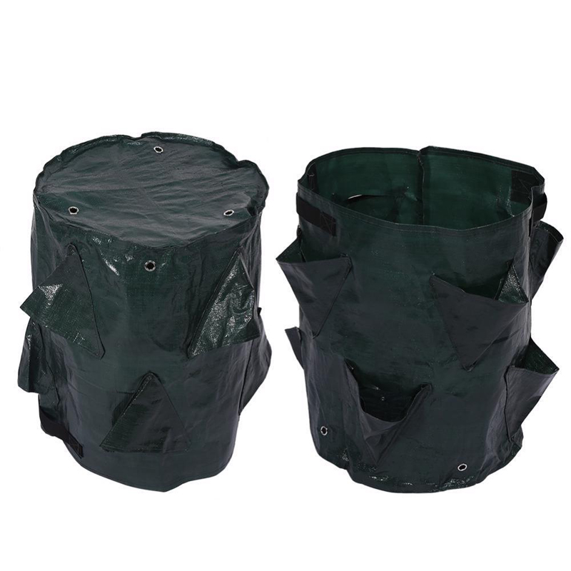 Image 3 - Felt Cloth/PE Flowers Cultivation Strawberry Vegetable Planting Growing Bags Garden Supplies Strawberry Container Grow Craft-in Grow Bags from Home & Garden