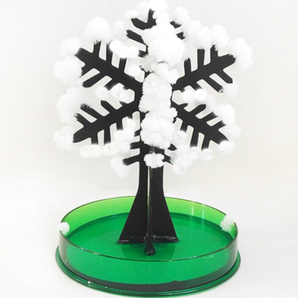 2019 12Hx8Dcm Visual White Magic Growing Paper Snowflake Tree Snowflakes Flutter Snow Flake Flakes Trees Hot Christmas Kids Toys