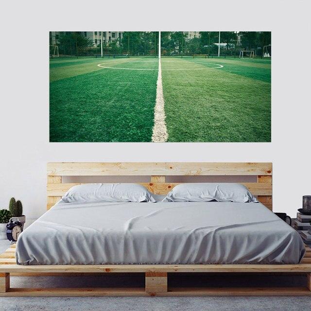 Kreative Bett Kopf Dekoration Wandaufkleber Grün Wiese Muster für  Schlafzimmer Dekor Große Größe DIY Wandbild Kunst Bilder