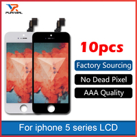 10pcs AAA Screen For IPhone 5 5S 5C LCD Display Touch Screen Assembly With Digitizer Glass