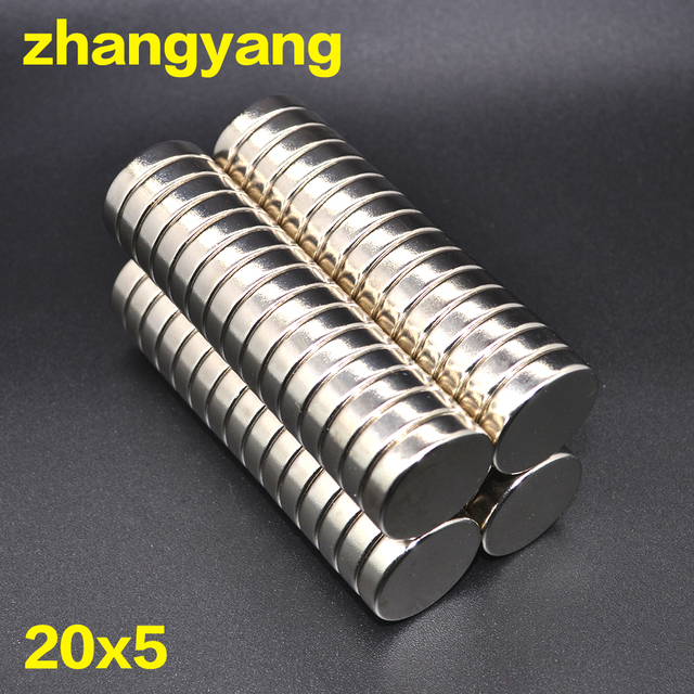 20 pcs 20*5 Strong Disc Magnets Dia 20 mm x 5 mm Rare Earth Neodymium Magnet 20 x 5 20 mm * 5 mm