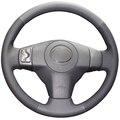 Artificial preto Tampa Da Roda de Direcção Do Carro de Couro para Toyota Yaris Vios RAV4 2006-2009 Scion XB 2008