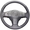 Black  Artificial Leather Car Steering Wheel Cover for Toyota Yaris Vios RAV4 2006-2009 Scion XB 2008