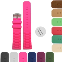 Wholesale 6Pcs 22mm New Hot Pink Silicone Jelly Rubber Ladies Watch Band Straps WB1052B22JB