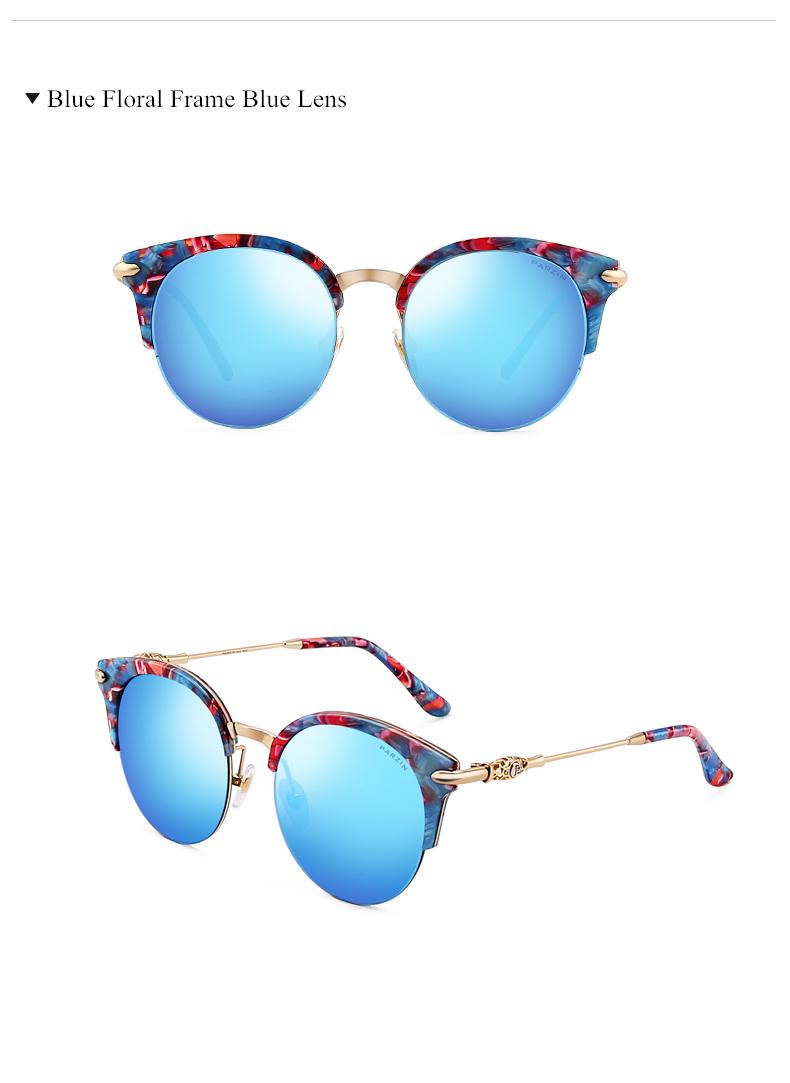 05bafcc16b PARZIN HD Nylon Polarized Sunglasses For Women Vintage Cat Eye ...