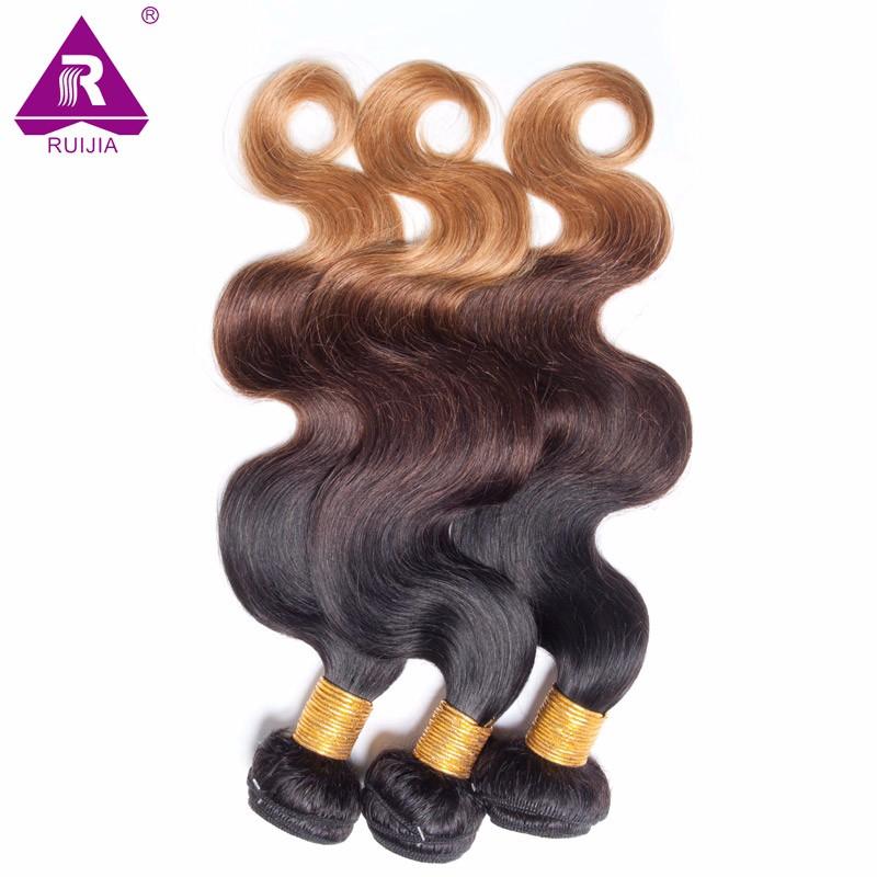8A Grade Ombre Mongolian Body Wave Virgin Hair 3pcs Mongolian Ombre Hair Human Hair Weave Dark Brown 1B 4 27 Tissage Bresilienne (23)