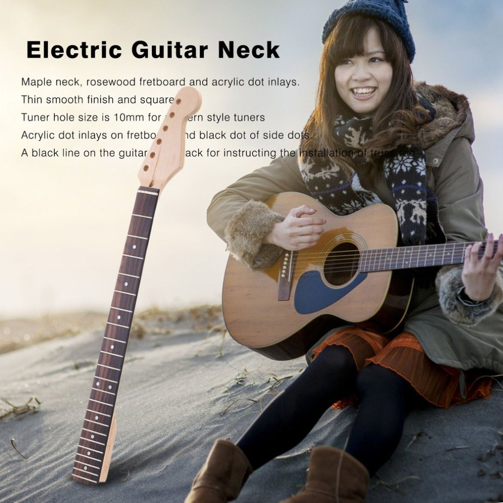 TSAI 22 Frets Electric Guitar Neck Rosewood Fingerboard For ST Electric Guitar Replacement Guitar Accessories