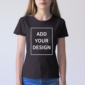 EU Size Custom T Shirt Female Add Your Own Design Print The Text Picture Women High Quality 100% Cotton T-shirt(China)
