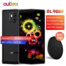 DOOGEE-teléfono móvil BL9000 de 5,99 pulgadas, móvil con Android 8,1, Helio P23, ocho núcleos, 6GB de RAM, 64GB de rom, 5V5A, batería de 9000mAh, carga inalámbrica, NFC, cámara Dual, 4G