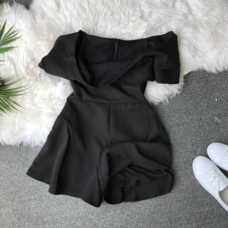 HTB16O1wclOD3KVjSZFFq6An9pXai - Candy Color Elegant Jumpsuit Women Summer Latest Style Double Ruffles Slash Neck Rompers Womens Jumpsuit Short Playsuit