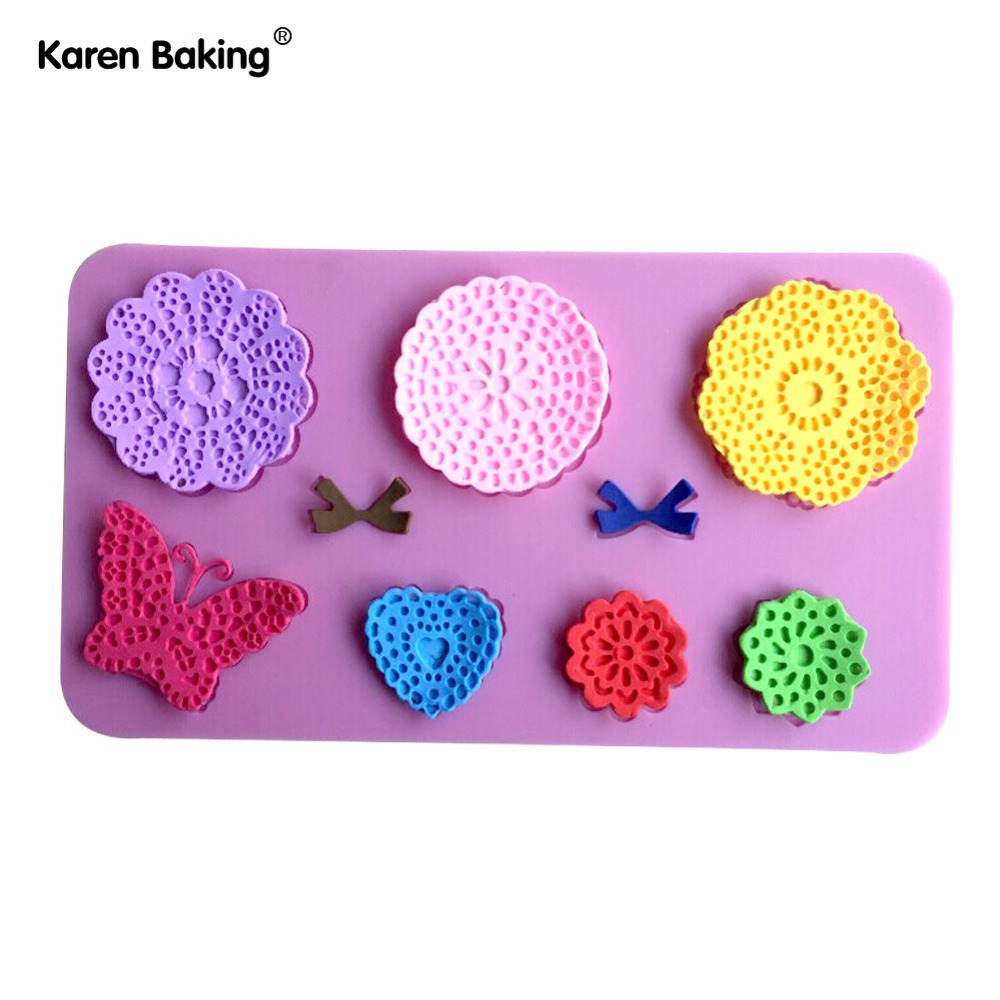 Home & Garden Luyou 3d Silicone Lace Beautiful Butterfly Shapes Mold Cake Fondant Sugar Paste Craft Mould Tool Cake Baking Tools Fm498