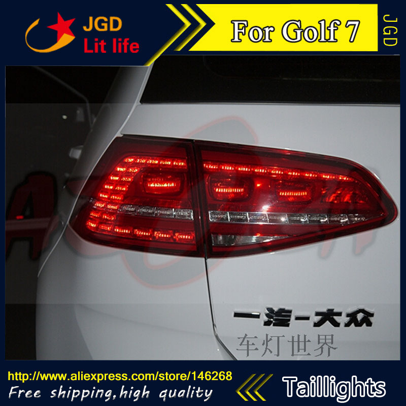 Car Styling tail lights for VW Golf 7 2013 2014 LED Tail Lamp rear trunk lamp cover drl+signal+brake+reverse car styling tail lights for toyota prado 2011 2012 2013 led tail lamp rear trunk lamp cover drl signal brake reverse