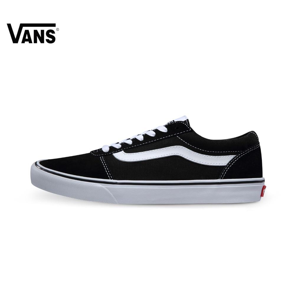 Original Vans Black Color Low-Top Men's Skateboarding Shoes Sport Shoes Sneakers original vans black and blue gray and red color low top men s skateboarding shoes sport shoes sneakers