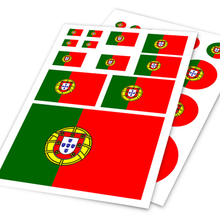 A4 Sheet Portugal Flag Colored Print Car Styling Hellaflush Sticker Auto Motorcycle Bike Laptop Skateboard Ipad Phone DIY Decals