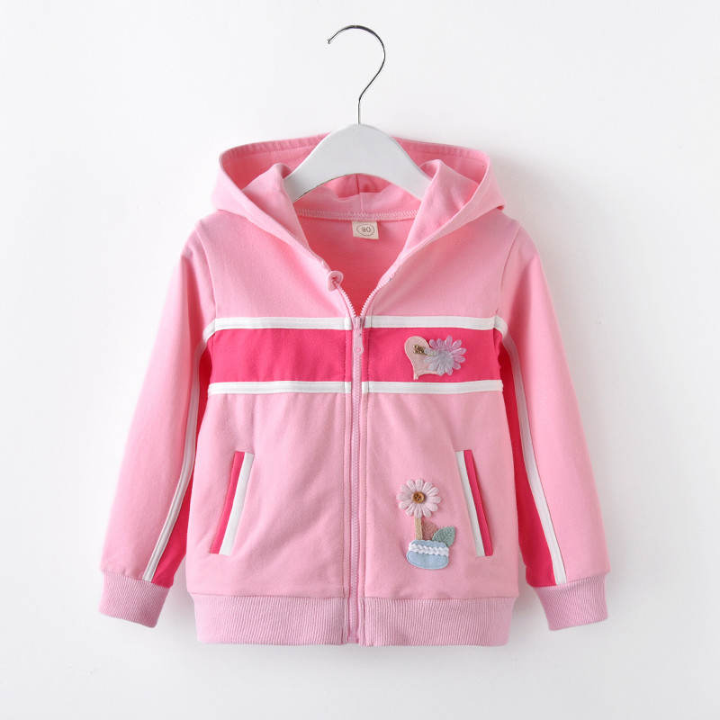 BibiCola spring autumn girls children coat fashion hoodies child jacket girls tops cartoon printing coat kids outerwear clothes