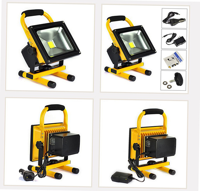 Flood Lights Rechargeable Led Floodlight Lithium Ion Battery 10wflood Lamp Portable Light Ip65