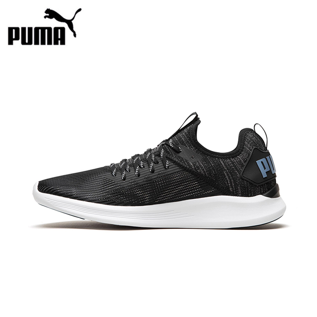 Original Puma IGNITE Flash Stripped Men Breathable Running Shoes Jogging  Comfortable Wear-resistant Outdoor Sports Sneakers f85556ead