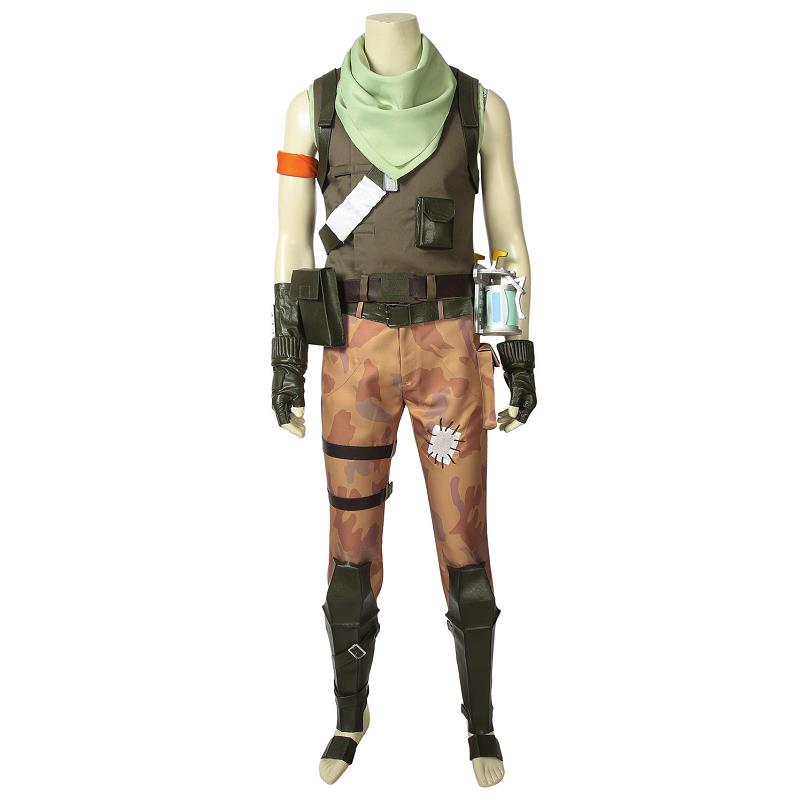 Fortress Battle Royale Costume Jonesy Cosplay Fancy Suit Halloween Carnival Adult Men Superhero Outfit with Props Custom Made
