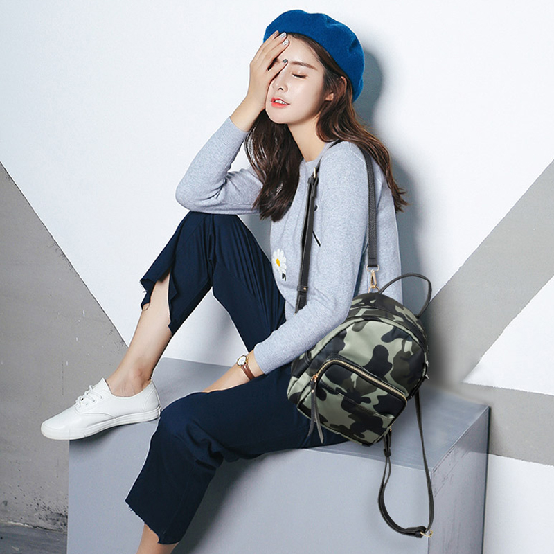 Image 2 - DORANMI Oxford Small Women Backpack 2019 Camouflage Daily Daypack Waterproof Backpack Female Rucksacks Lightweight Mochila JB213-in Backpacks from Luggage & Bags