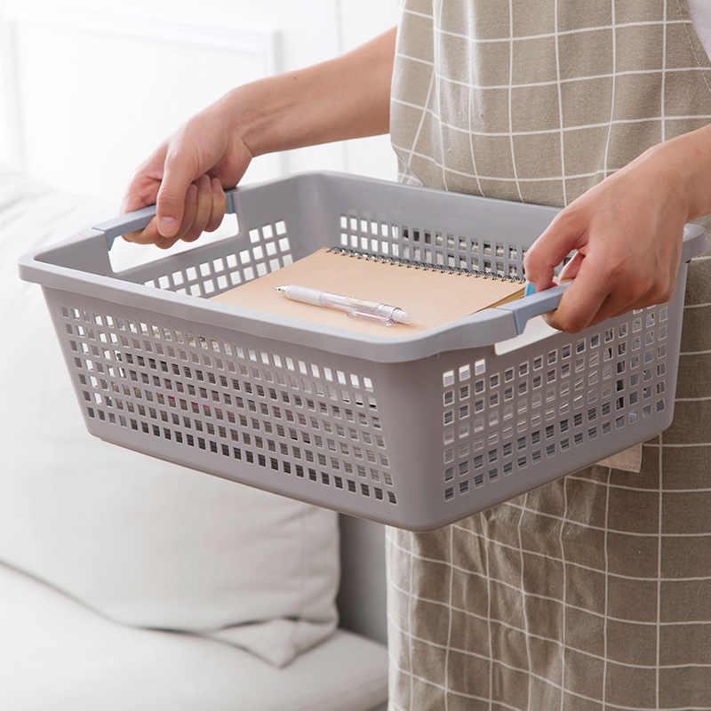 Japonês escavado-out mesa cesta de cozinha de plástico caixa de lanche cesta de cosméticos