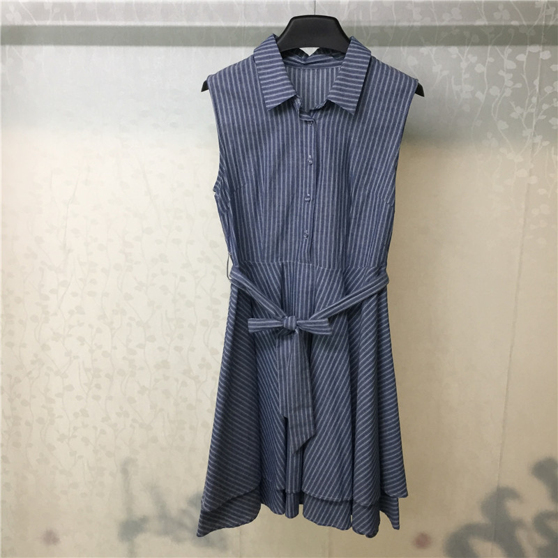 Summer Women Dress Sleeveless Striped Elegant 2019 Casual A-Line Ladies Dresses Vestidos