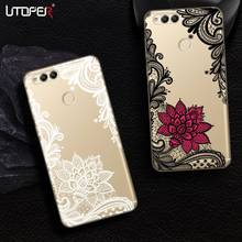 UTOPER Flower Phone Cases For Huawei Honor 7x Case Silicone Gel Cover For Honor 5c 6a 6x Case For Honor 8 9 GR5 2017 Mate 9 Lite