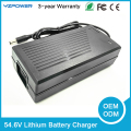 Rohs CE Smart 54.6V5A Lithium Battery Charger for Electric Tool Robot Electric Car Li-on Lifepo4 Battery 48V with Built-in Fan