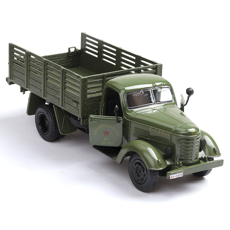Sale 1:36 Military Transport Truck Alloy Model,simulation Metal Die-casting Sound And Light Pull Back Model,free Shipping