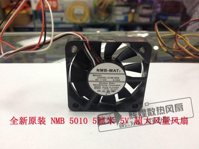 Новый NMB-MAT Minebea 2004KL-01W-B50-B00 5 В 0.35a 5010 5 см вентилятор охлаждения