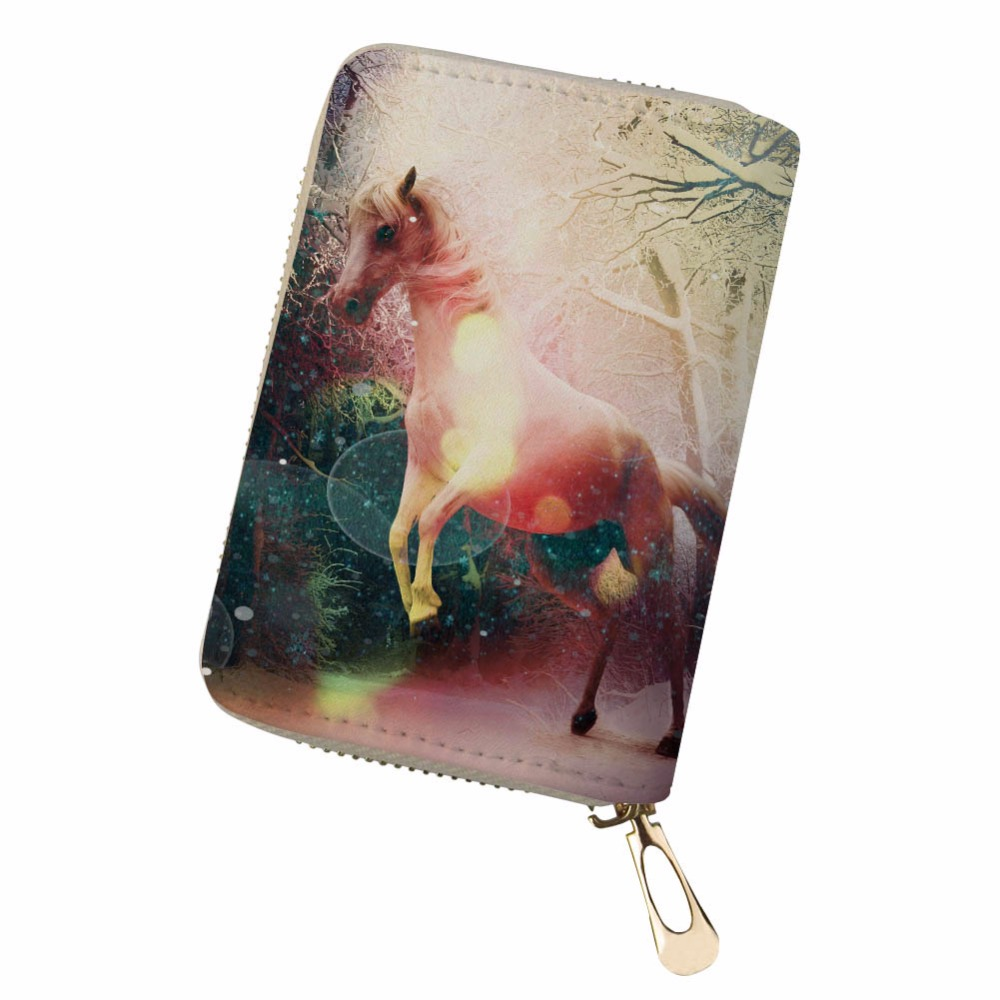 Sweet-Tempered Retro Fresh Personality Horse Funny Women Men Credit Business Bank Cards Holder Passport Pu Leather Pokemon Card Luggage & Bags Card & Id Holders