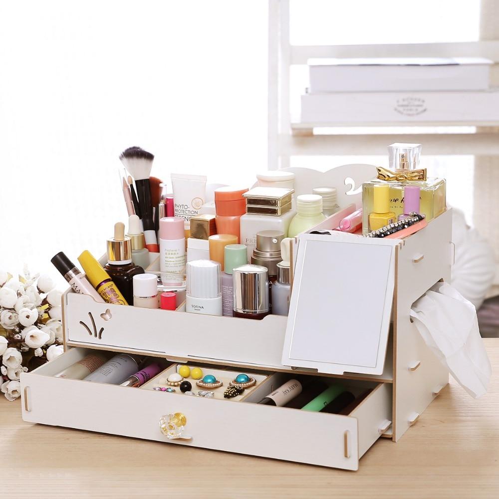 Diy Jewelry Cabinet Aliexpresscom Buy Diy Cosmetic Organizer Storage Box Cabinet