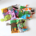 Baby Cloth Book Learning Education Unfolding Books Animal Tails Activity Books Developmental Books for Develop intelligence