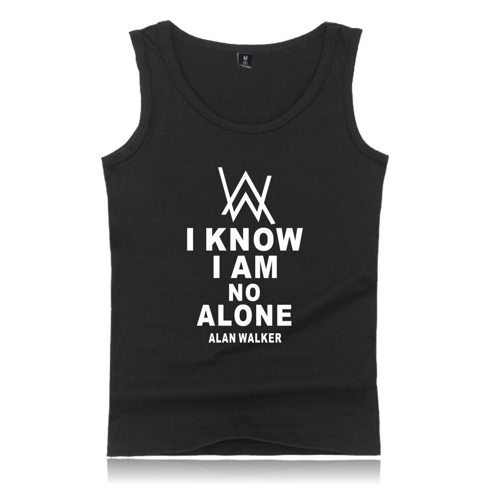 Alan walker Tank Tops Summer sleeveless Cotton T-shirt Men DJ Alan Walker T Shirt Fashion Casual Male/Female T-shirts Homme