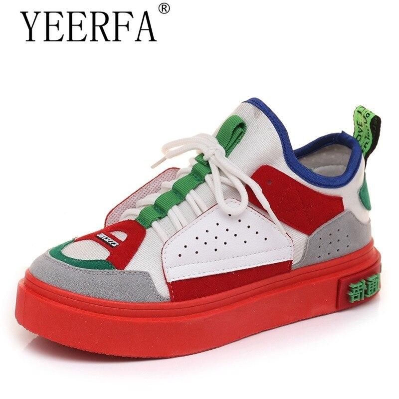 Nuevos colores mezclados zapatillas suela gruesa plataforma zapatos Vintage zapatos mujer Casual Dames Schoenen