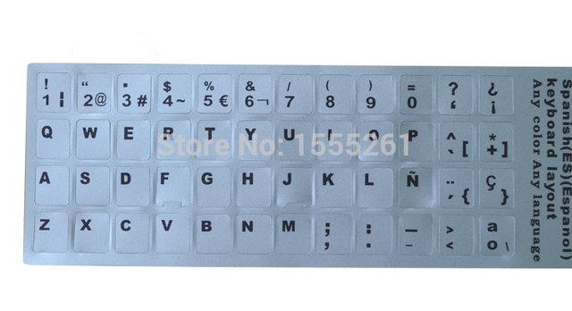 2016 10pcslot cheap letters super durable spain keyboard sticker 2016 10pcslot cheap letters super durable spain keyboard sticker alphabet for all kinds of spiritdancerdesigns Images