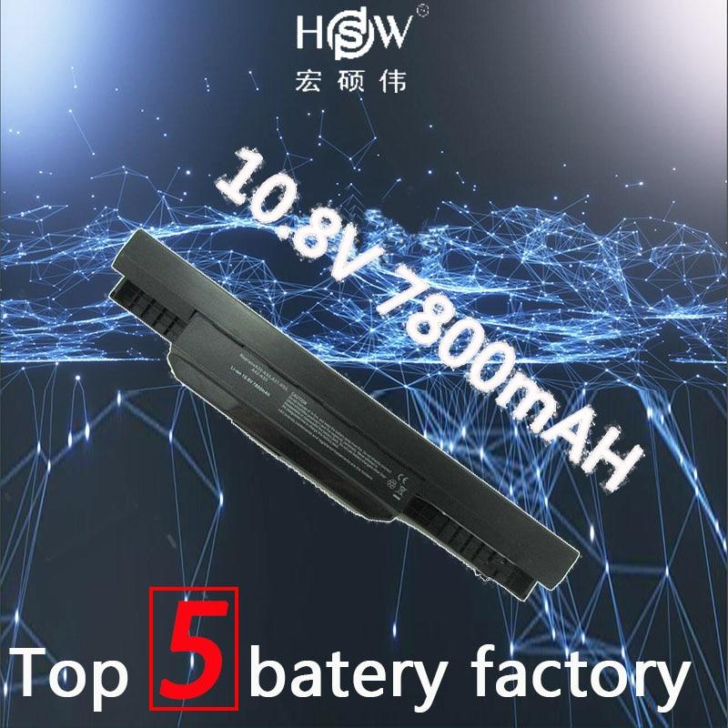 A HSW 7800mAh bateria para Asus k53 A32 A42-K53 A31-K53 A41-K53 A43 A53 K43 K53 K53S X43 X44 X53 X54 X84 X53SV X53U X53B bateria