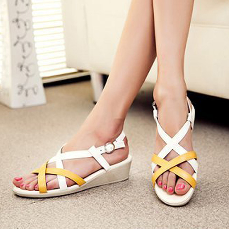 Online Shop Pop Nice Summer Woman Woman Summer Sandalos Wedges Sandalos Donna scarpe 78c1a4