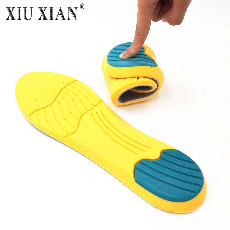 Soft Memory Foam Arch Support Shock Absorption Cushion Basketball Running Sports Insoles for Shoes Women Men Breathable Insoles