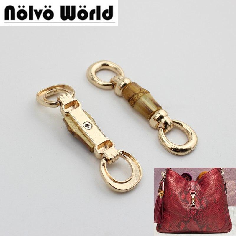 30pcs Fashion Bamboo Fringed Hanger Connector  For Fashion Bags Handbag Decorative Hanger Pendant Bag Hardware Accessories