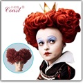 Alice in Wonderland The Red Queen Short Red Curly Heat resistant synthetic Cosplay Wig QY-913835