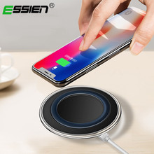 ESSIEN Qi Wireless Charger Desktop Wireless 2A Fast Charging Pad For iPhone X 8 Plus for Samsung S9/S8/S8+/S7/S6 Edge+ Phones