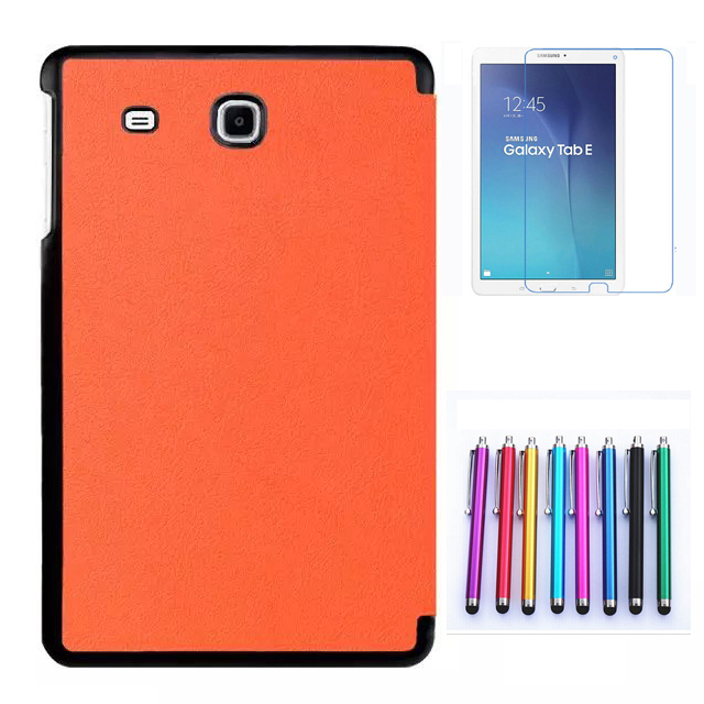Stand Leather Case for Samsung Galaxy Tab E 9.6 T560 SM-T560 Case Cover + Stylus + Screen Protector Film + Free Shipping