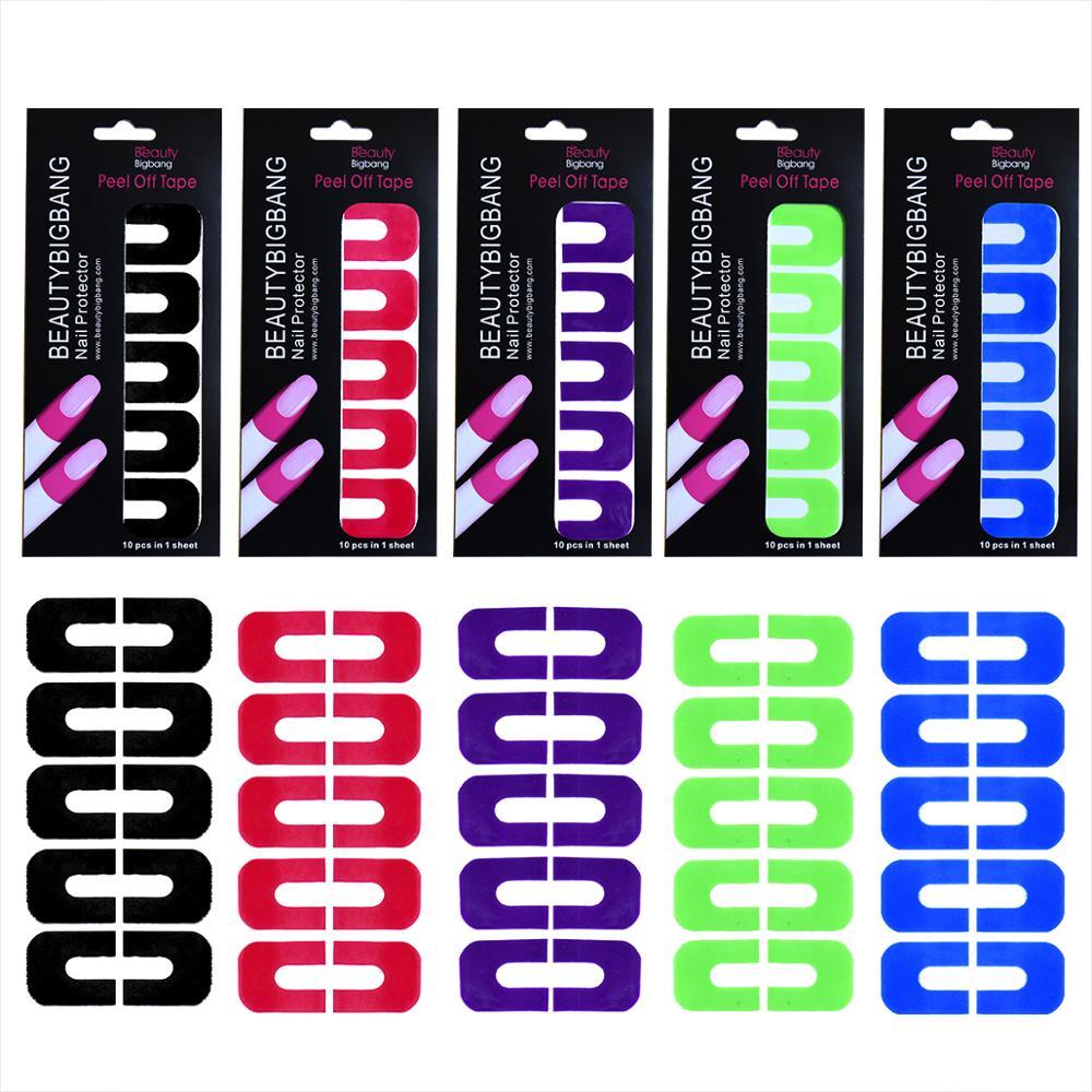 BeautyBigBang 1 лист протектор для ногтей стикер искусство новый проливающаяся палка отклеивается U лента для полировки анти перелив|Стикеры и наклейки|   | АлиЭкспресс