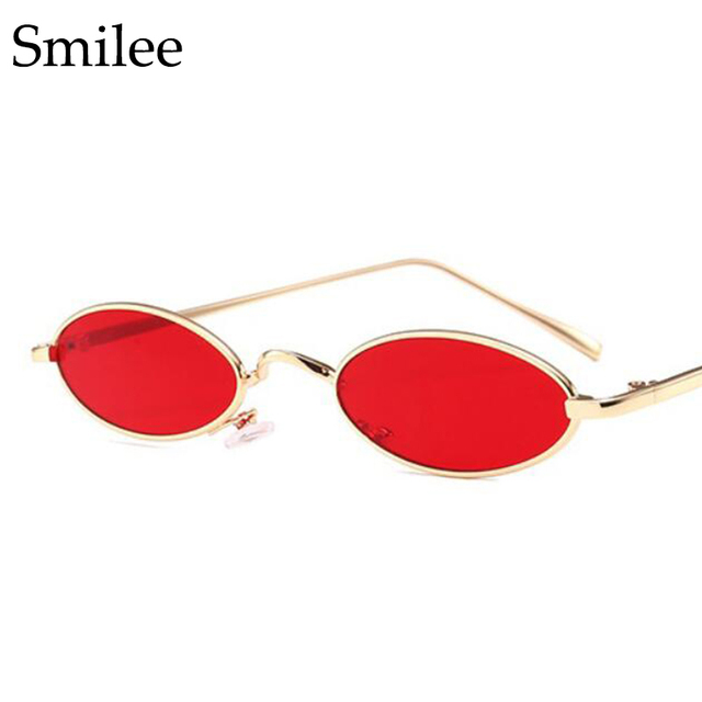 16ab574192 Retro Oval Sunglasses Women Luxury Brand Designer Metal Frame Rihanna  Hipster Small Sun Glasses Female cute sexy Oculos Vintage