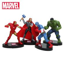 4 sztuk 10 cm Avengers zestaw figurek Superhero Thor Hulk Ironman kapitan ameryka działania figurka – model kolekcjonerski lalki Marvel zabawki tanie tanio 12-15 lat 8 lat 6 lat Dorośli 3 lat 8-11 lat Hasbro not suit for under 3 years 10cm Wyroby gotowe Żołnierz gotowy produkt