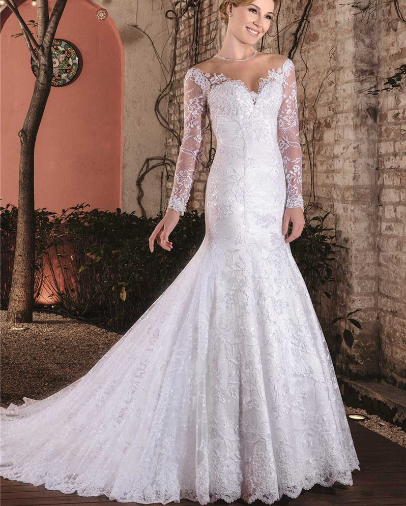 Wedding Gowns From China: Vintage Sexy Cheap China Bridal Gowns Long Sleeve Lace