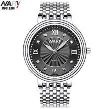 Nary reloj de cuarzo de los hombres de marca de relojes de lujo de los hombres relojes relojes mujeres reloj relogio masculino reloj hombre de moda a prueba de agua