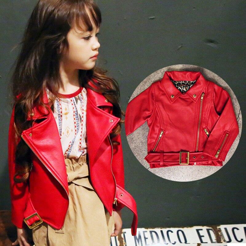 Mädchen Frühling Herbst Kleidung Leder Outfit Heiße Neue Kinder - Kinderkleidung - Foto 5