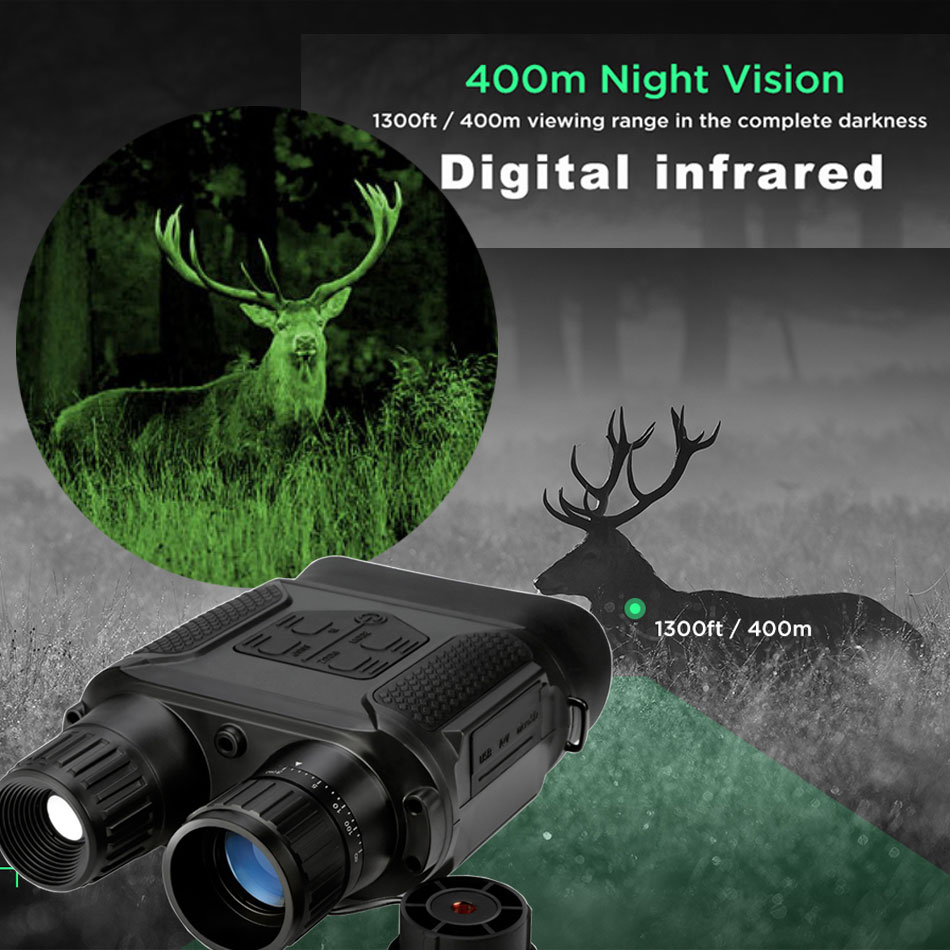 400m Night vision binoculars 3.5x 7x magnification hunting elk tools telescope digital infrared day time and night vision HD