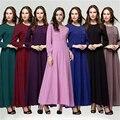 Mujeres del vestido 2016 nueva Original Dubai túnica musulmana mujeres musulmanas Abaya vestido largo para turca Abayas islámicos